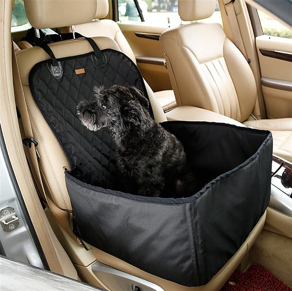 LOHUA Pet Front Seat Cover Pet Booster Seat?2 in 1 Dog Seat Cover for Cars Waterproof Pet Bucket, Black