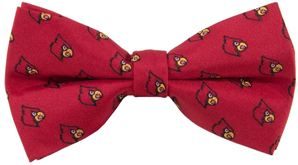 Louisville Cardinals Repeated Logo Bow Tie - NCAA College Team