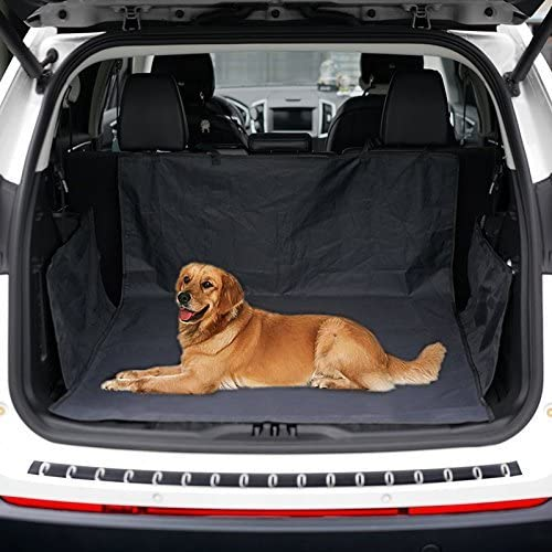 YIKESHU Universal Protector for Car Trunk Waterproof and Resistant,Car Pad Trunk Cover for Protecting Dog Hair Liquid and Dirt Powders Trunk Cover Easy to Install and Wipe (Black)