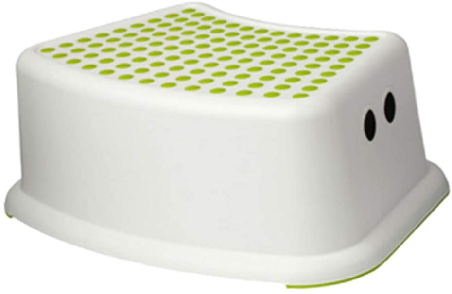 LWW Step Stool,for Kids Child Toilet Training Seat with Anti Slip Surface a/Green / 13x37x24cm