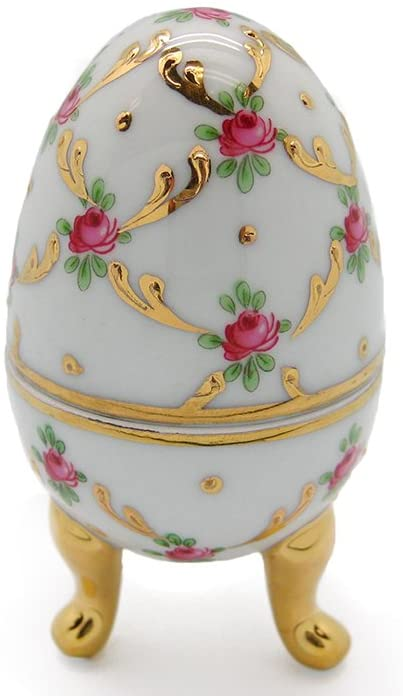 Essence of Europe Gifts E.H.G Vintage Victorian Desert Rose Egg Jewelry Box