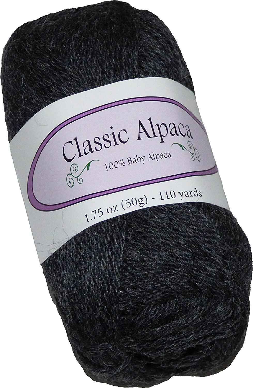 Classic Alpaca 100% Baby Alpaca Yarn #403 Wall Street Flannel Charcoal Grey