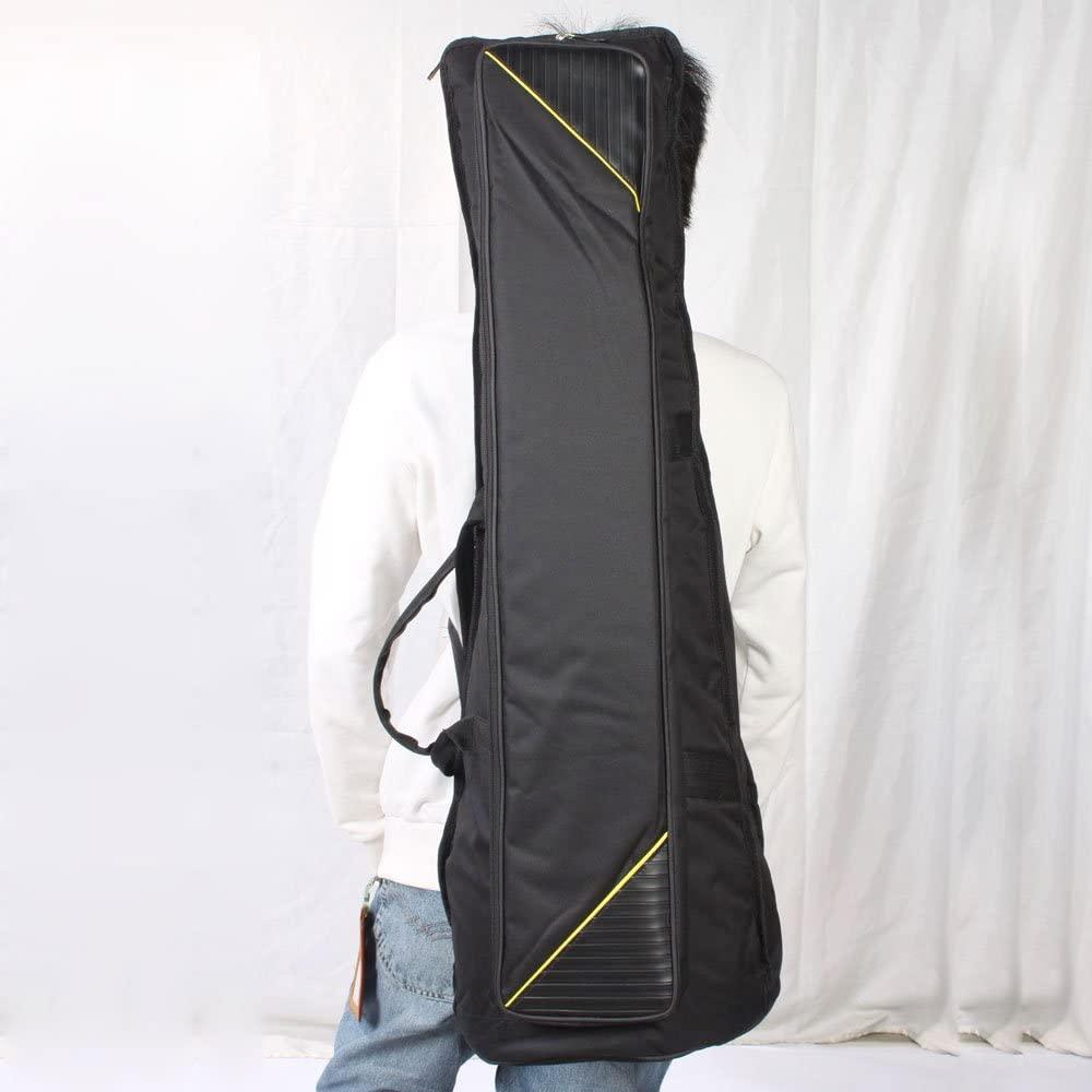 Portable Soft Gig Tenor Trombone Bag Lightweight Case Adjustable Shoulder Straps Black Anti-scratch