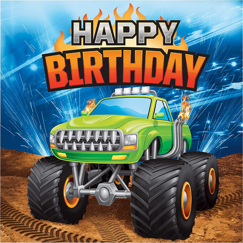 Monster Truck Happy Birthday Napkins, 48 ct