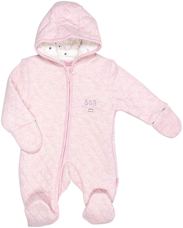 Baby Girl Puffy Hooded Front Zipper Winter Romper