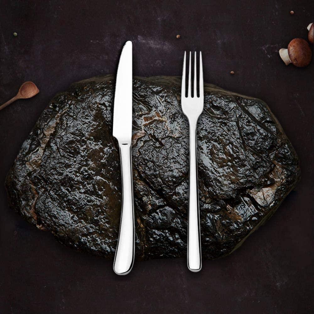 Thickened Stainless Steel Household Steak Knife, Fork, Spoon Western Cutlery Set, Silver Moon Series Small Teeth 2-piece Set