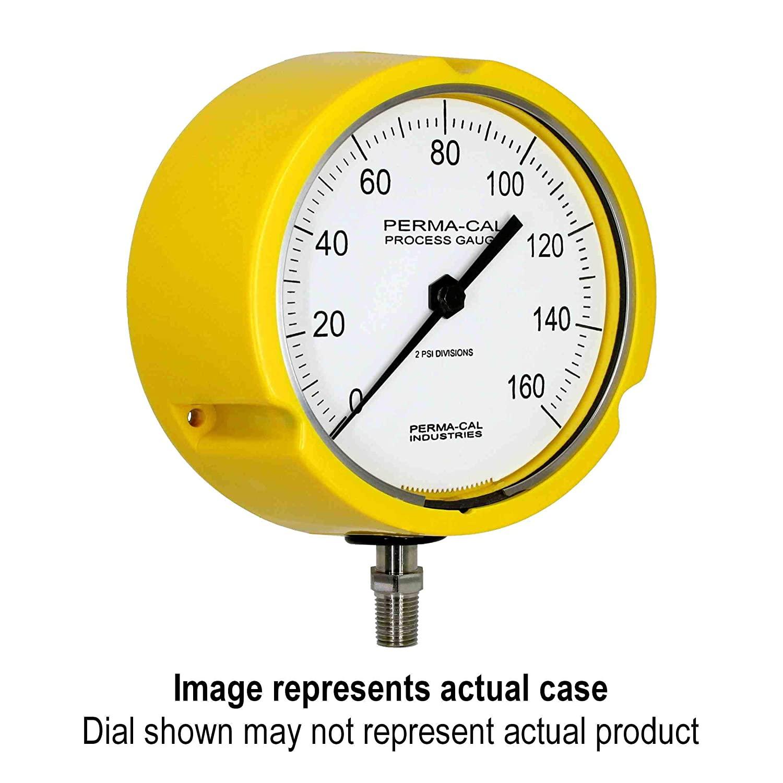 Compound Gauge, Gearless, Process, 30inHg-0-400 psi, 4.5