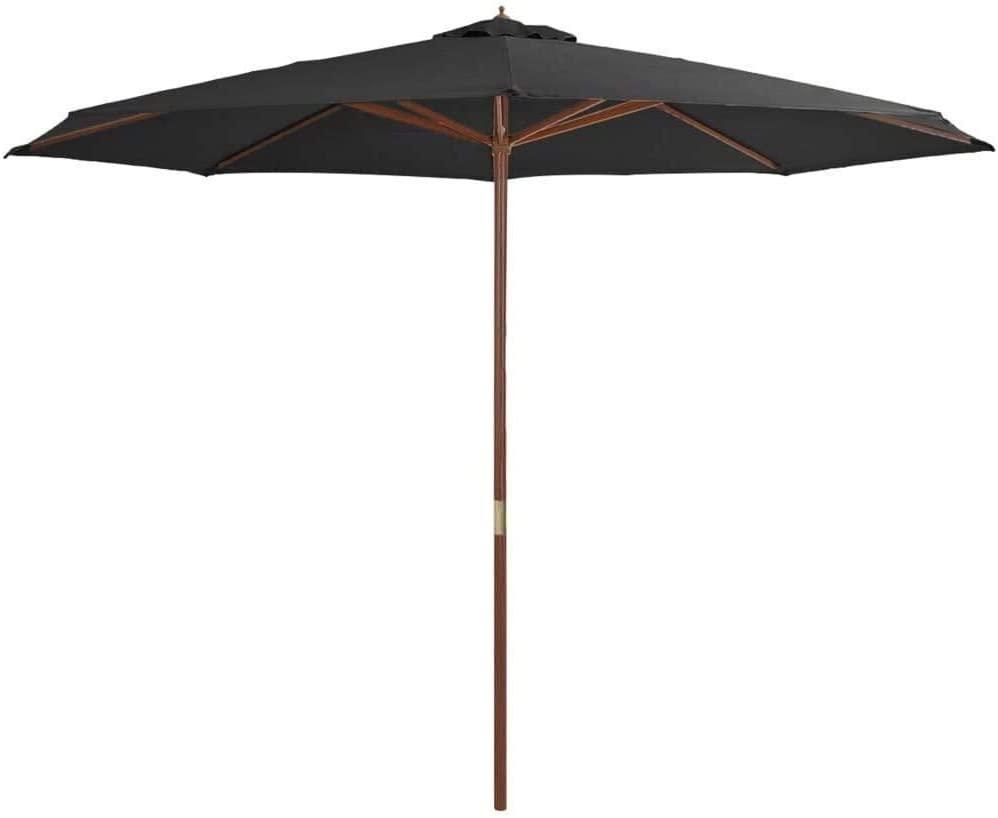 DIII Outdoor Umbrella Cover Market Garden Alternative Cantilever Parasol Cover Water Resistant 350cm Anthracite Patio Umbrella Cover for Garden Backyard Beach Park Store 8.6