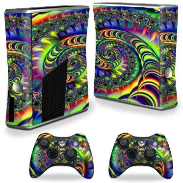 MightySkins Skin Compatible with X-Box 360 Xbox 360 S Console - Acid | Protective, Durable, and Unique Vinyl Decal wrap Cover | Easy to Apply, Remove, and Change Styles | Made in The USA