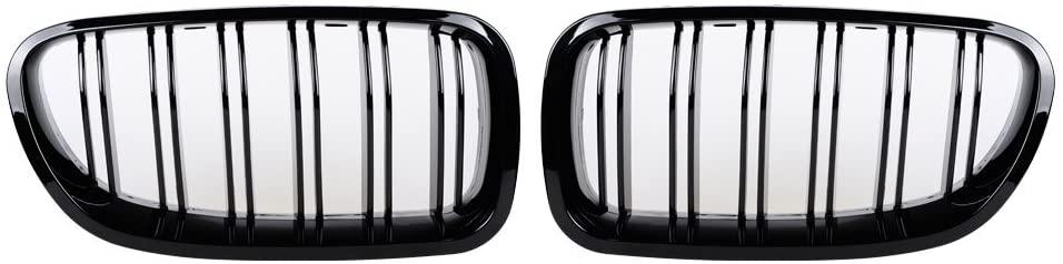 Compatible with 2010-17 BMW 5 Series F10/F11 M5 550i 535i Kidney Grill Gloss Black Dual Slats