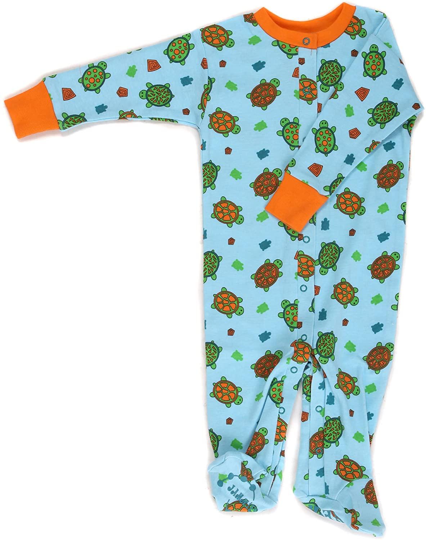 New Jammies Baby-Boys Newborn Organic Turtles Footie