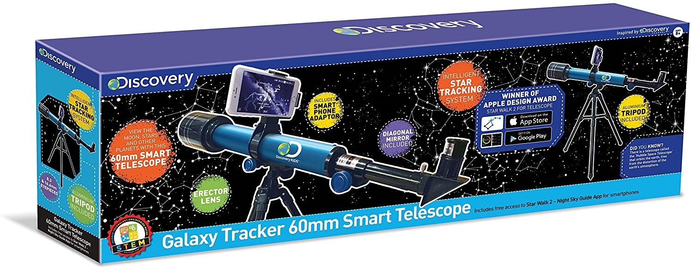 Discovery Channel TDK30 Galaxy Tracker 60mm Smart Telescope, Multi