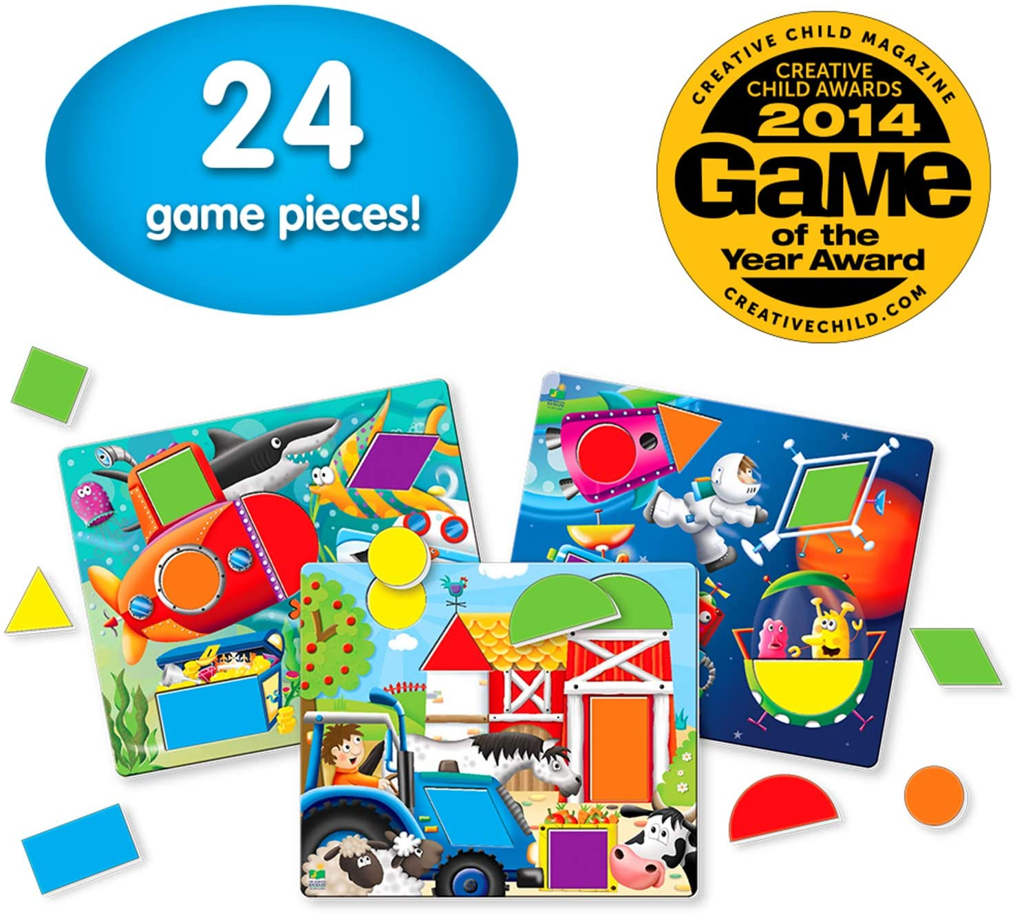 The Learning Journey: Match It! - Fun With Shapes - A Matching Game for up to 4 Players