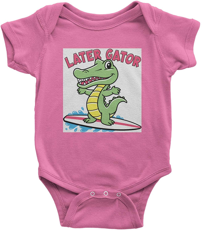 Expression Tees Lator Alligator Surfing Infant One-Piece Romper Bodysuit