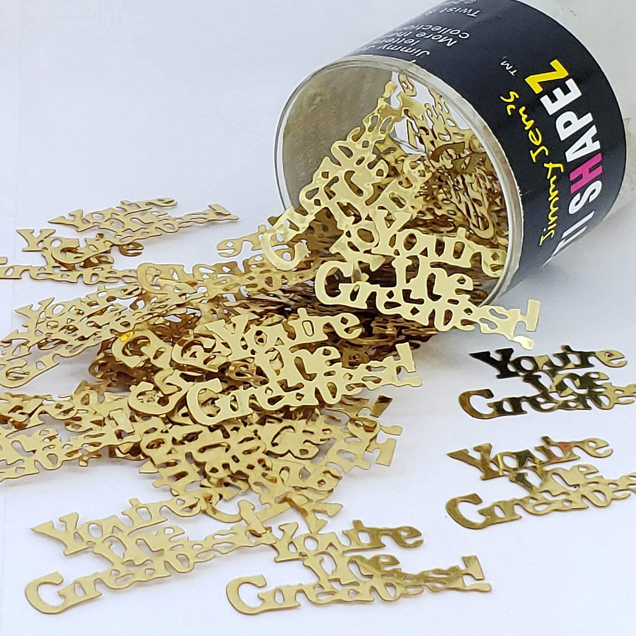 Confetti Word Youre The Greatest Gold - Retail Pack #7710 QS0