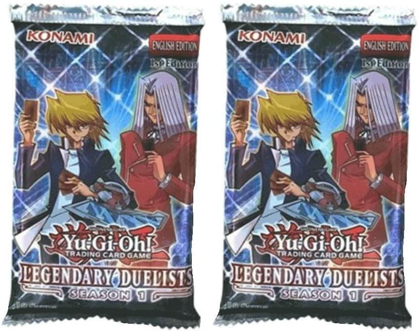x2 YuGiOh Legendary Duelists Season 1 Booster Packs