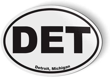 Stickers & Tees DET Detroit Oval - Car Magnet - 5