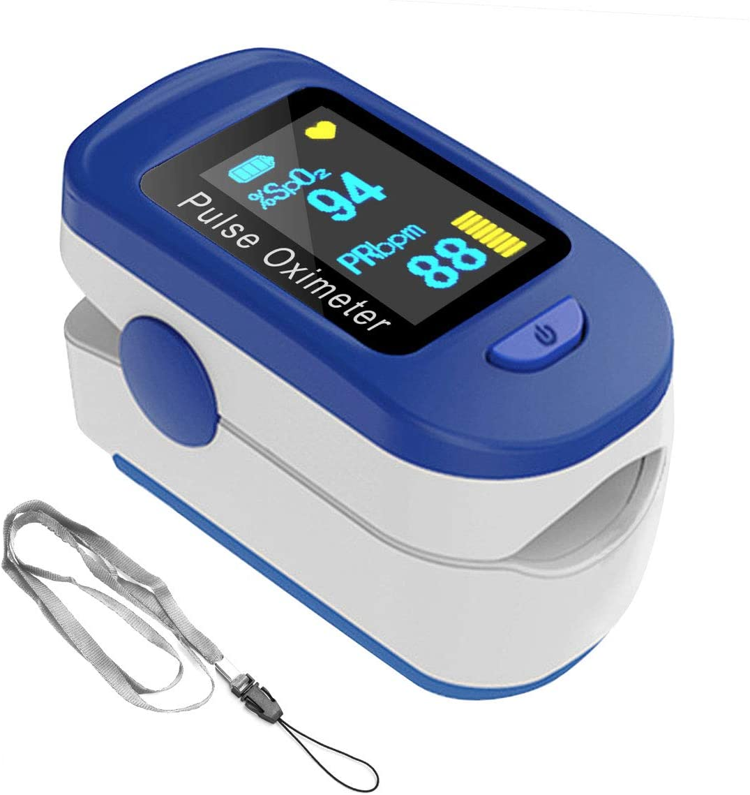 Finger Oxygen Saturation Monitor and Heart Rate Monitors with Lanyard for Sports or Aviation Use Only (Non-Medical use)