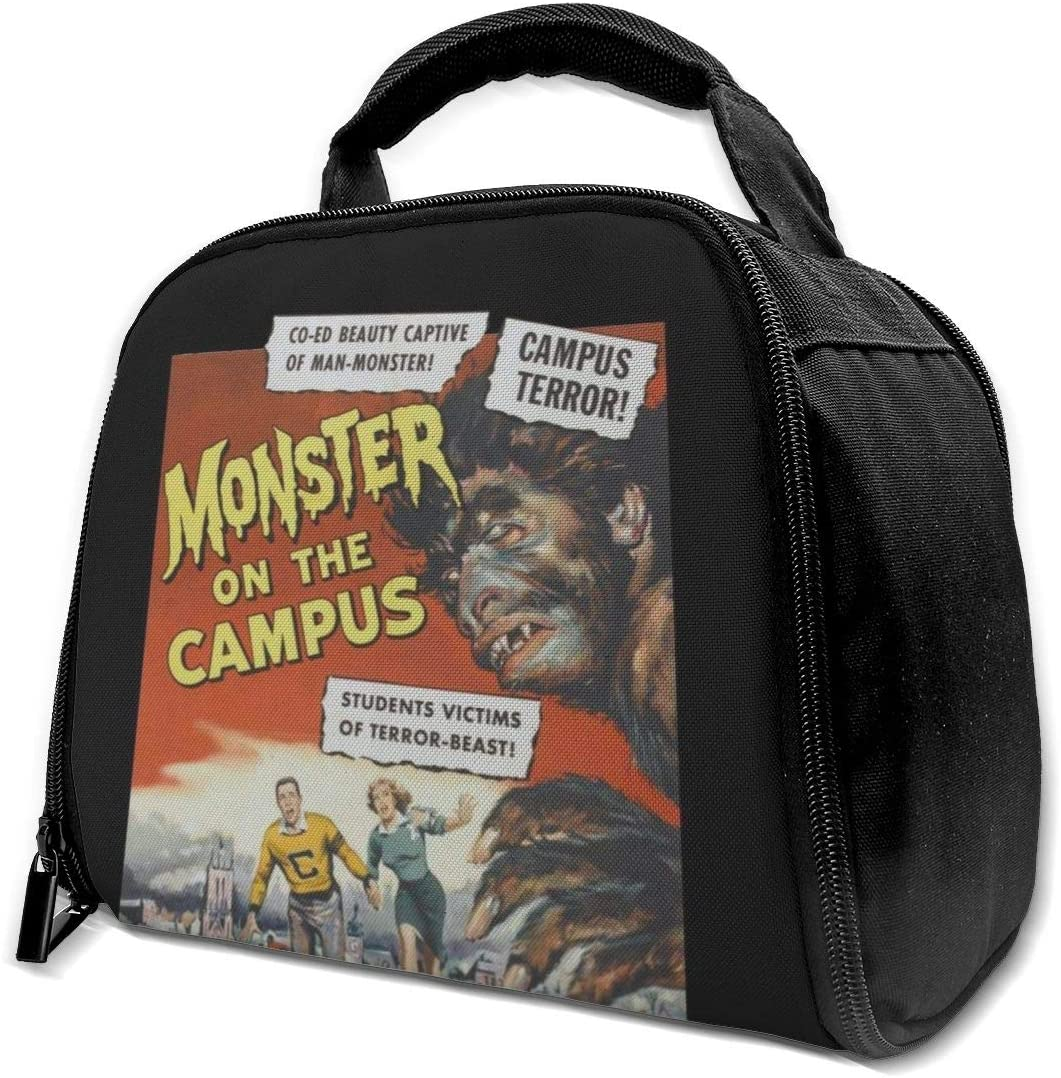 Monster On The Campus Movie Poster Reusable Insulation Bags Picnic Lunch Box For Adult And Kids, Lunch Cooler For Office Work