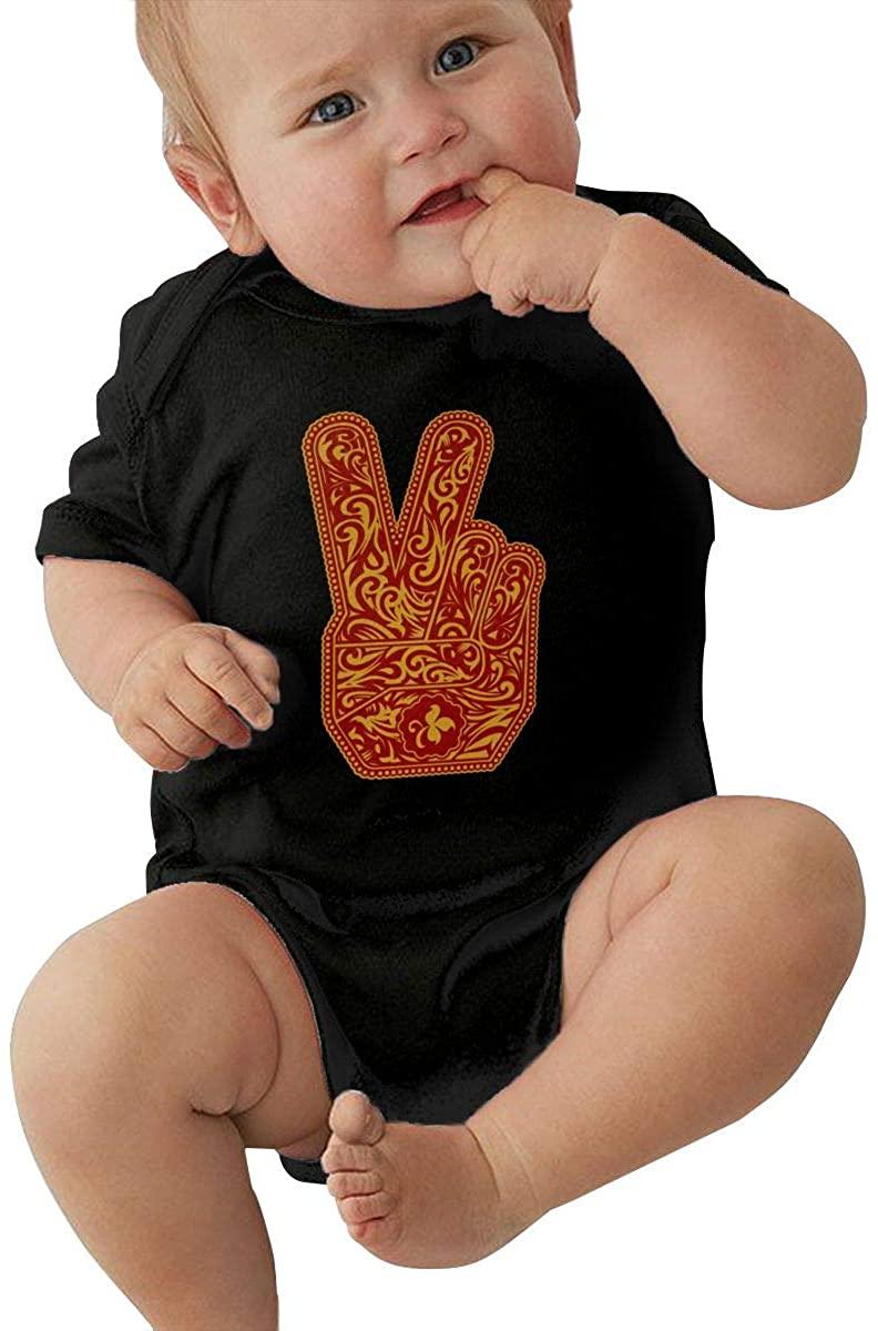 ZXCVAS Stone Temple Piloots lovelyBaby boy and Girl Short Sleeve Jumpsuit Newborn Triangle Romper