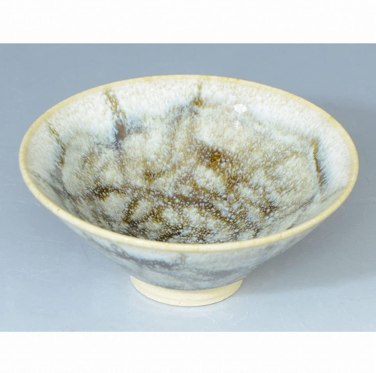 Kiyomizu-kyo yaki ware. Japanese Sake guinomi cup Mangeyuteki with wooden box. Ceramic. kymz-GYM349