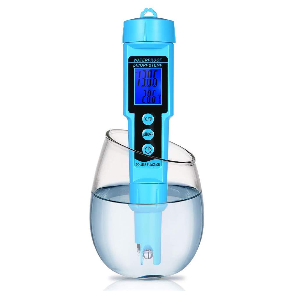 Professional 3 in 1 pH/ORP/Temp Meter Water Detector Multi-Parameter Digital LCD Tri-Meter Monitor Water Quality Tester