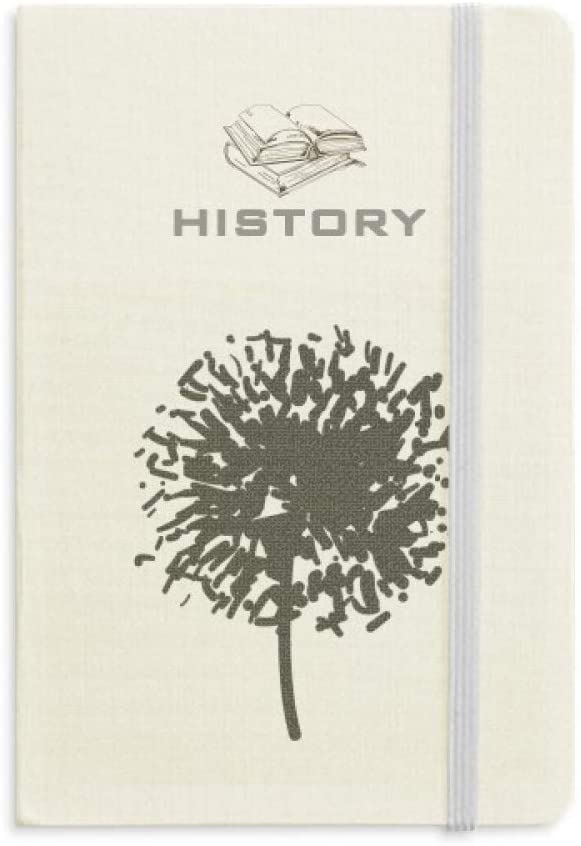Dandelion Flower Plant Silhouette History Notebook Classic Journal Diary A5
