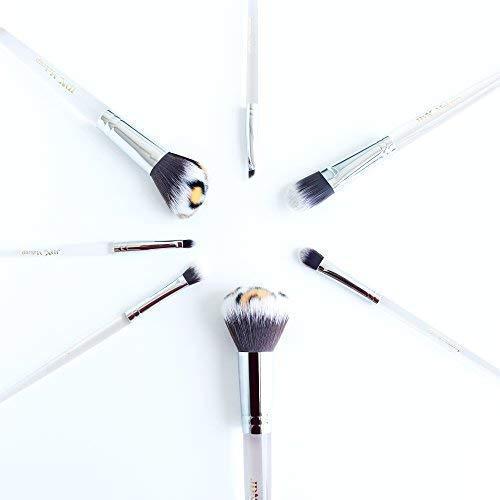Makeup Brush Set - Kabuki Foundation Powder Eye Shadow Brushes Powder Brush Blush Brush Foundation Brush and Eye Brush Lip Brush with Acrylic Handle by JDK