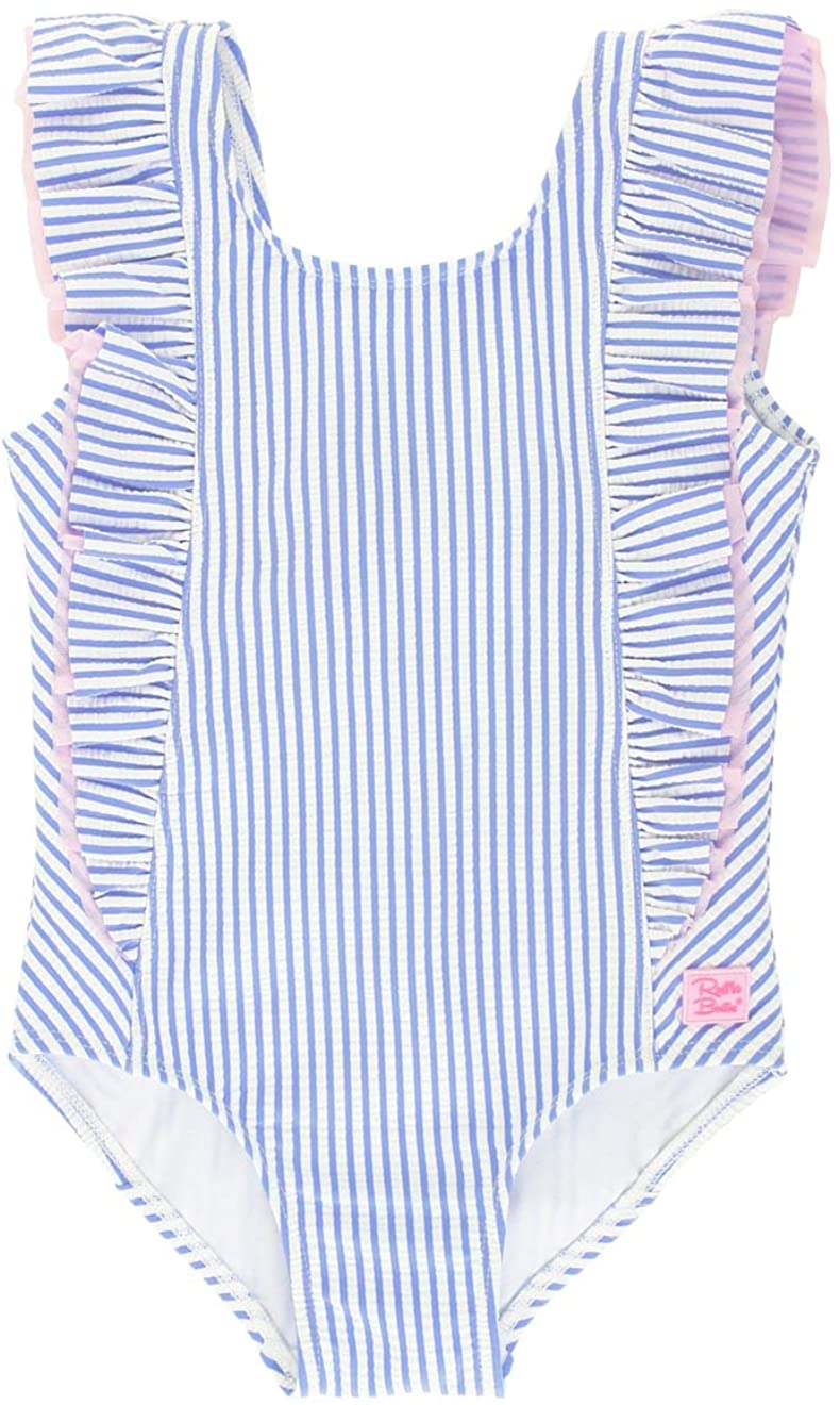RuffleButts Girls Ruffle Strap One Piece Swimsuit w/UPF 50+ Sun Protection