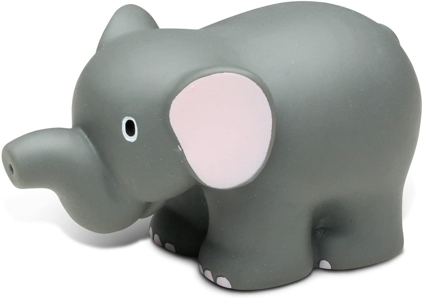 DolliBu Elephant Bath Buddy Squirter - Floating Elephant Rubber Bath Toy, Fun Water Squirting Bathtime Play For Toddlers Cute & Soft Wild Life Animal Toy For The Bathtub, Beach & Pool for Girls & Boys