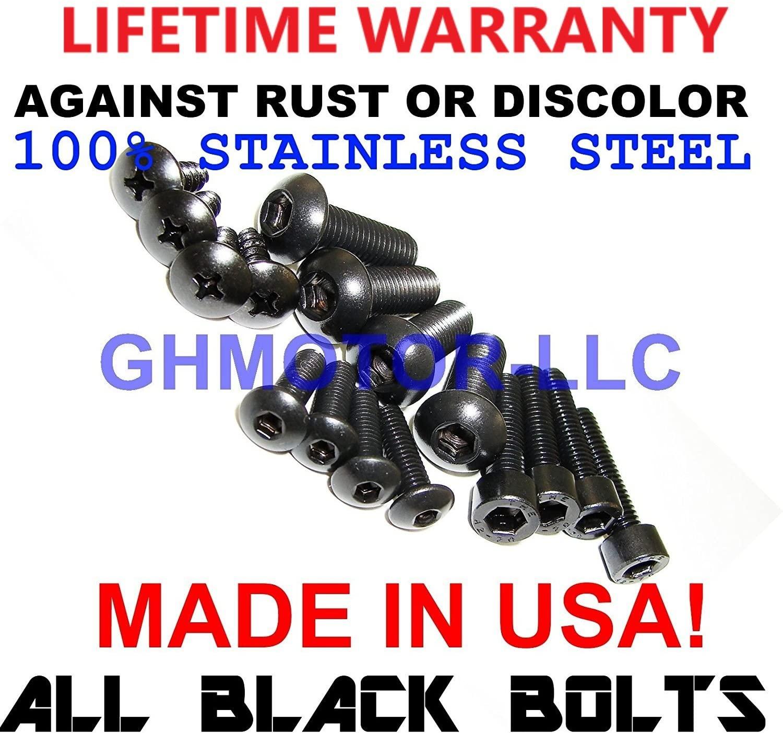 2002 2003 CBR 954RR All Black Fairings Bolts Screws Fasteners Kit Set Made In Usa