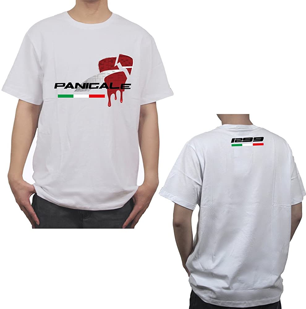 PRO-KODASKIN Motorcycle Style 100% Cotton Casual Short Sleeve O-Neck T Shirt for Ducati 1299 Panigale