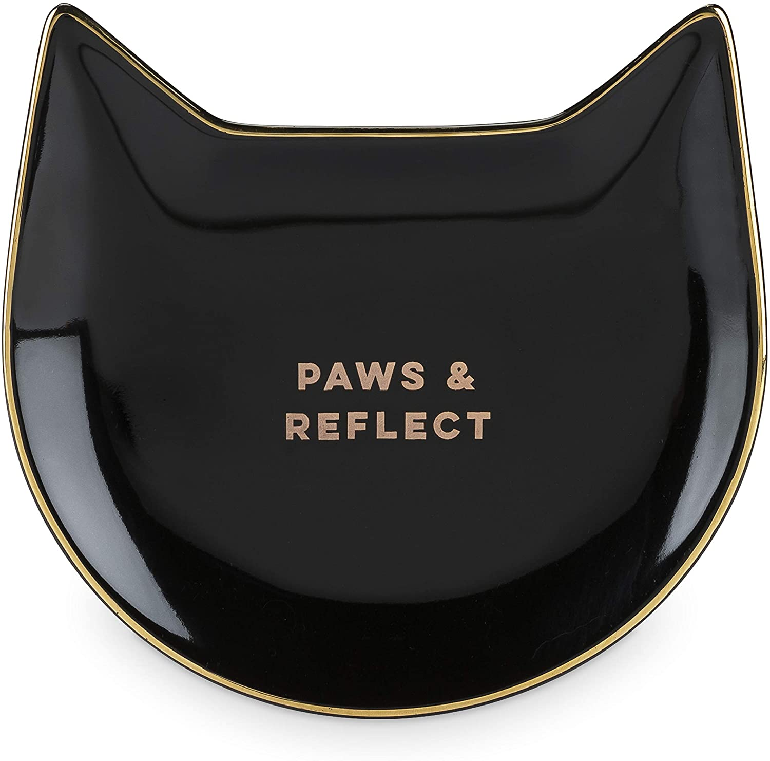 Pinky Up Paws & Reflect: Black Cat Tea Tray