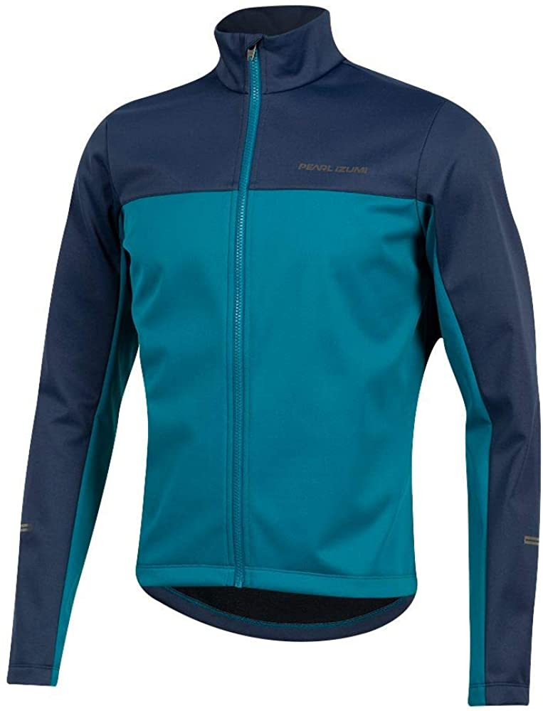 PEARL IZUMI Mens Quest AmFIB Cycling Jacket, Navy/Teal, Medium