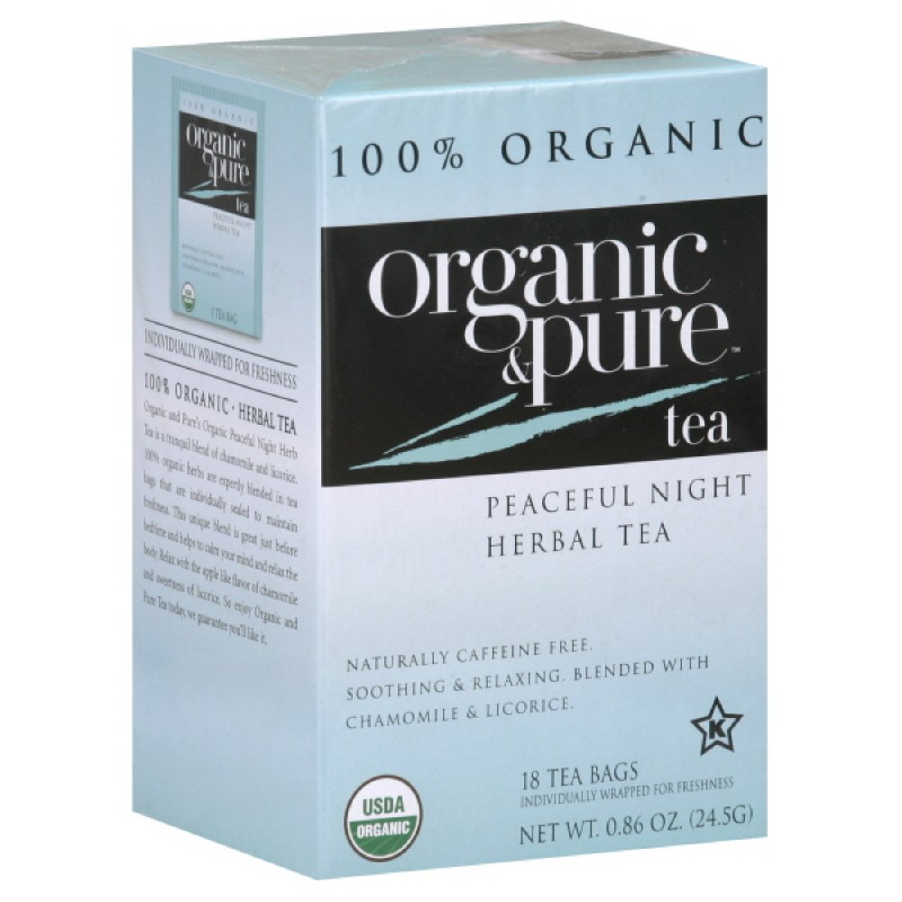 Organic & Pure Peaceful Night Herb Tea, 18-count (Pack of6)
