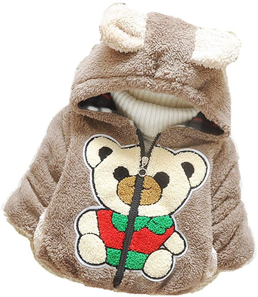 Baby Boy Bear Jacket Toddler Outerwear Hoodies Coat Dark Brown 3-36m