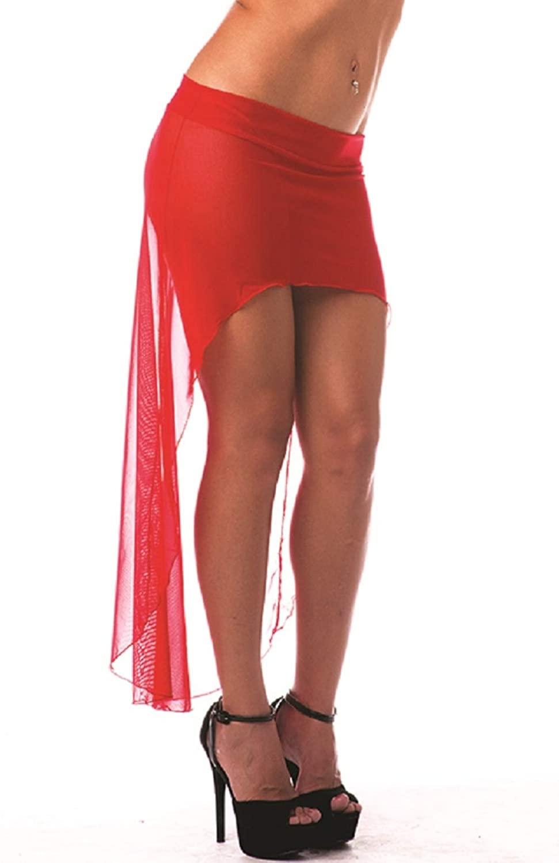 BODYZONE Women's High Low Mesh Skirt