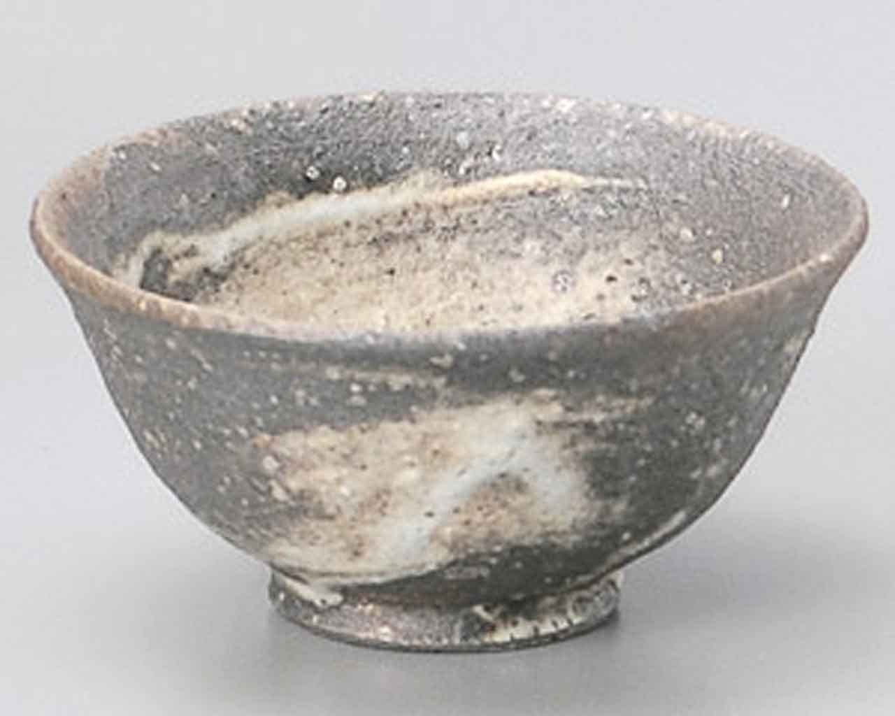 Yohen Brush 2.6inch Sake Cup Black Ceramic Made in Japan