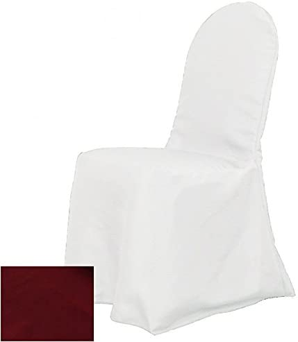 OWS Pack Of 70 Polyester Round top Banquet Chair Cover For Wedding Party Decorations chair covers - Burgundy
