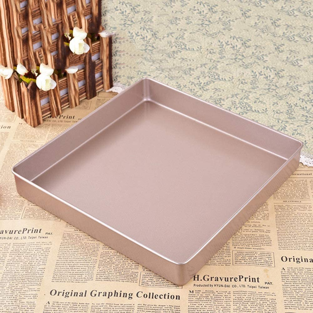 Chenteshangmao Home Kitchen DIV Baking Tray, Carbon Steel Non-stick Square Thread Cooking Side Plate, Suitable For Cake Roll Cookies Bread Candies, Etc. (28.5 28.5 3.5 Cm) Bake shop use