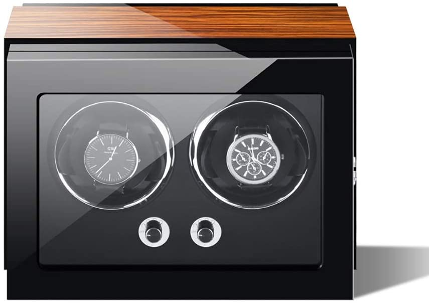 Watch Winder, Can Accommodate 1, 2, 3, 4, 6, 9 Watches, Imported Self-Winding Watch Boxes, Soft and Flexible Table Pillows, Imported Motors, Built-in LED Lights Watch Winder (Size : 2)