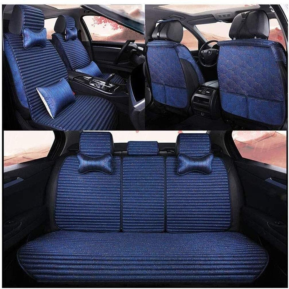 XZWYB Buckwheat Shell Filling Health Car Seat Cushions Cool Pad Breathable 5 Colors Easy to Clean Seat Cover (Size : Blue)