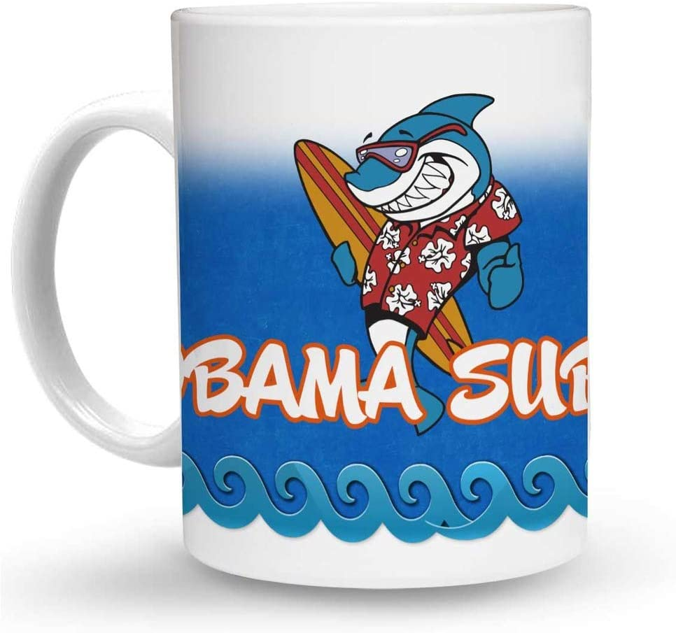 Makoroni - OBAMA SURFS Surf Surfing 6 oz Ceramic Espresso Shot Mug/Cup Design#26