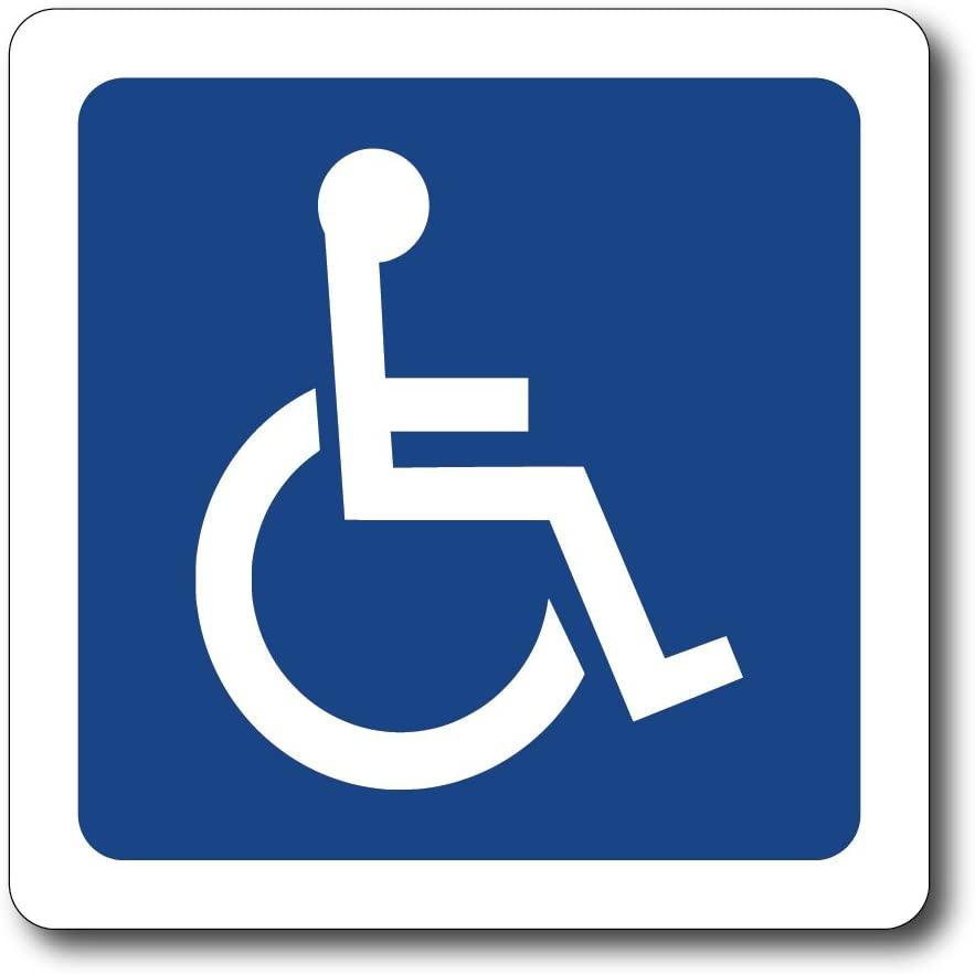 CoolHubcaps Reflective Handicap Symbol Magnet