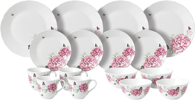 Royal Albert Miranda Kerr 16-Piece Plate/Cereal Bowl/Mug Set, Porcelain, Multi-Colour, 30 x 29.7 x 30.5 cm