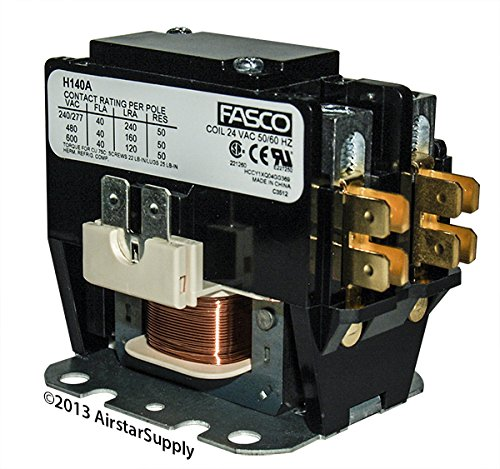 OEM Replacement for Trane Single Pole / 1 Pole 40 Amp Heavy Duty Condenser Contactor CTR02574