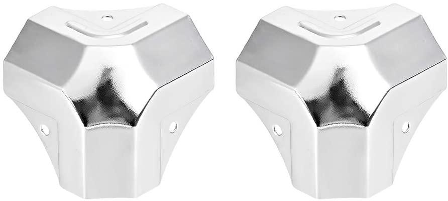 uxcell Metal Box Corner Protectors Wooden Box Edge Guard Protector 49 X 49 X 49mm 2pcs