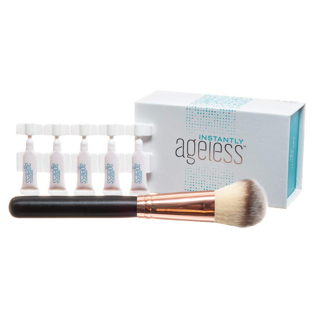 Jeunesse Instantly Ageless 25 Vials w/FREE Professional Quest Skin Care Makeup Brush | Instantly Ageless 25 Vial Box Set with FREE FULL SIZE Quest Skincare Professional Brush