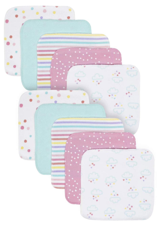 Organic Cotton Terry Washcloths, 10pk (Baby Girl)