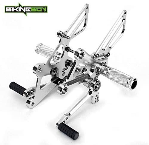 Frames & Fittings Huscus Adjustable Rearsets Rear Sets Footpegs Footrests for Honda CBR 250 R/RR CBR250R CBR250RR 2011 2012 2013 2014 11-14 - (Color: Silver)